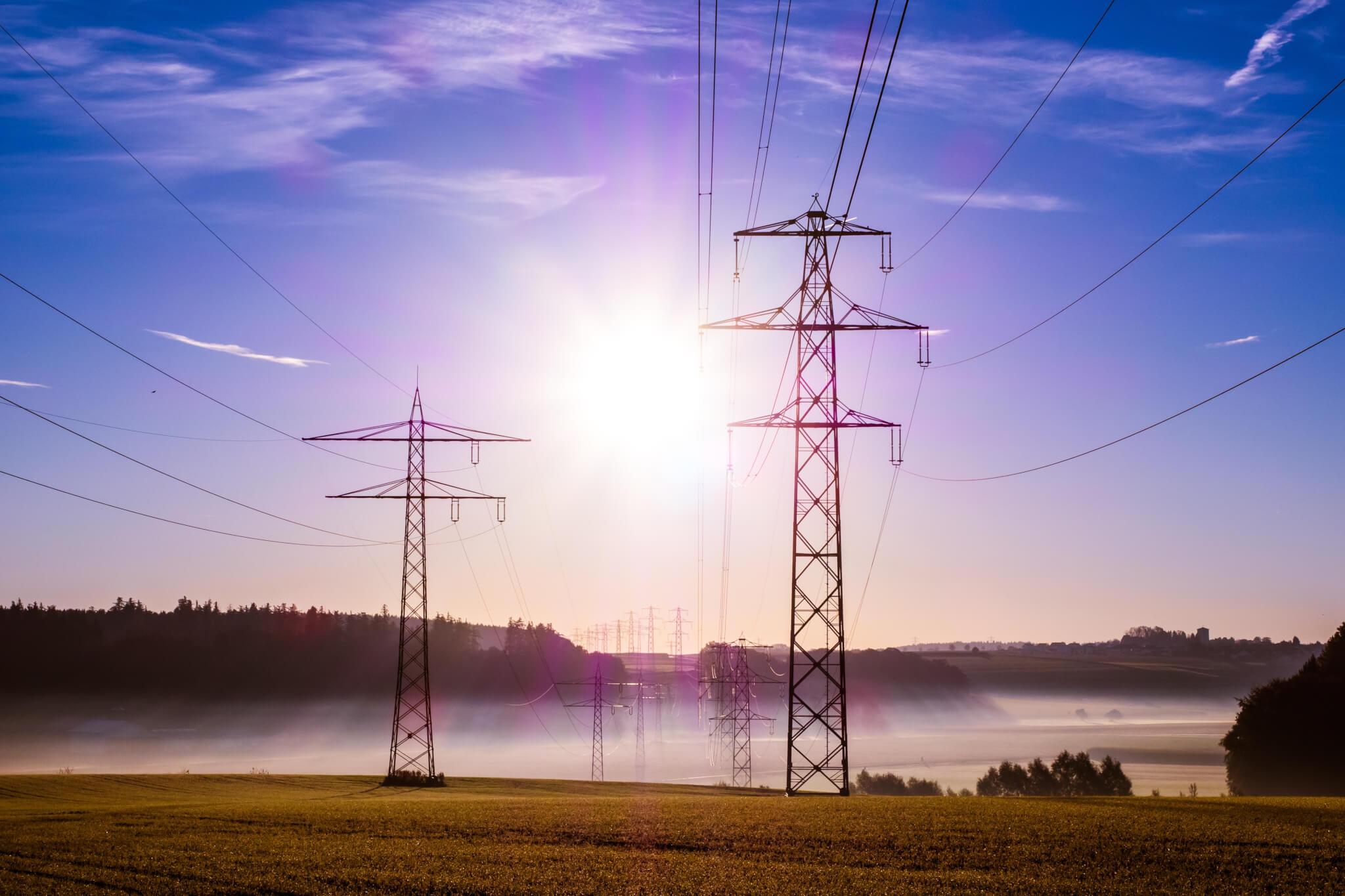public utility power lines