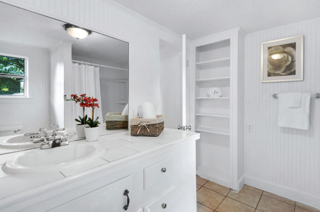 7390 New Era Road bathroom vanity and shelves