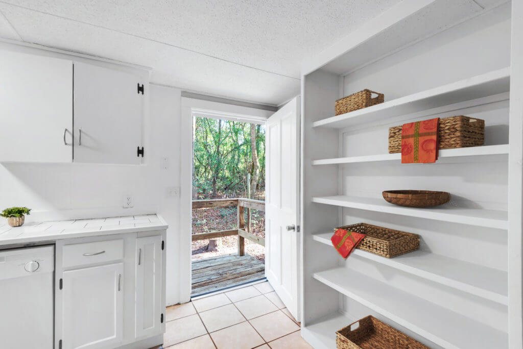 7390 New Era Road kitchen pantry shelves