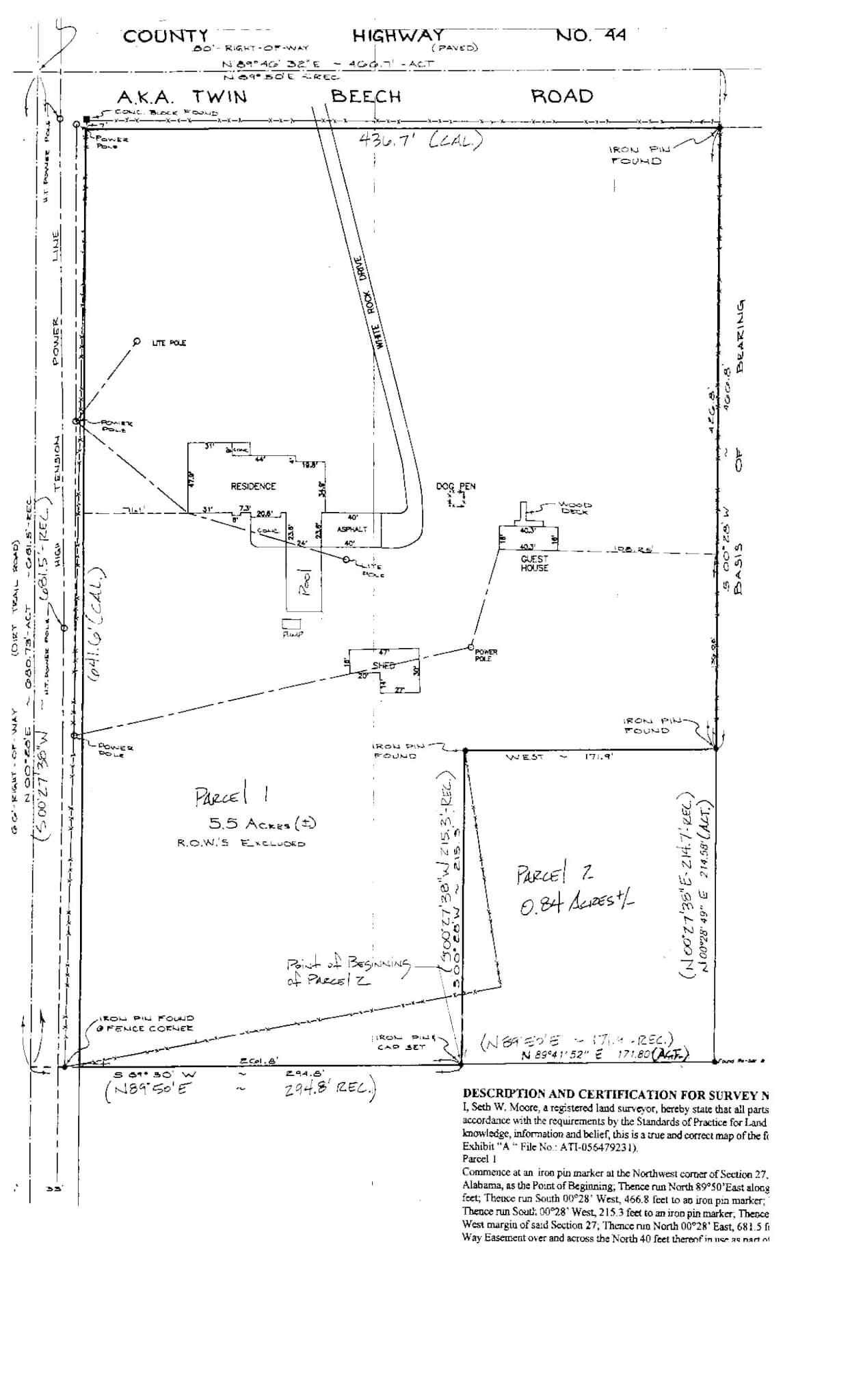 9072 Twin Beech Road Fairhope, AL Survey