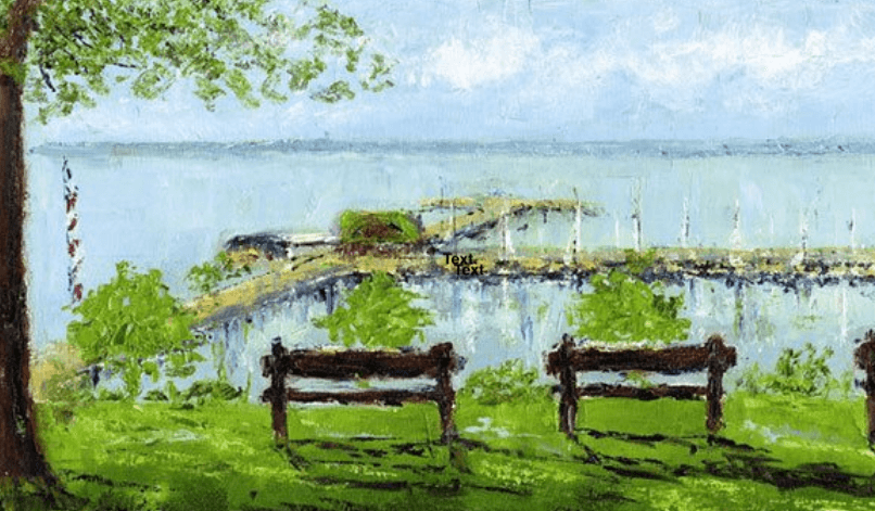 fairhope arts and crafts 2018 - Fairhope Pier Painting