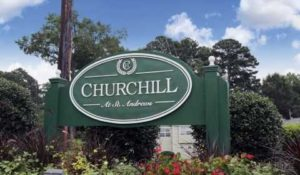 Churchill Subdivision Sign in Spanish Fort, Alabama