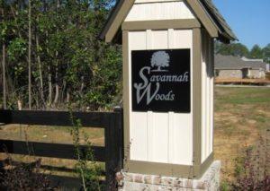Savannah Woods Sign in Spanish Fort, Alabama