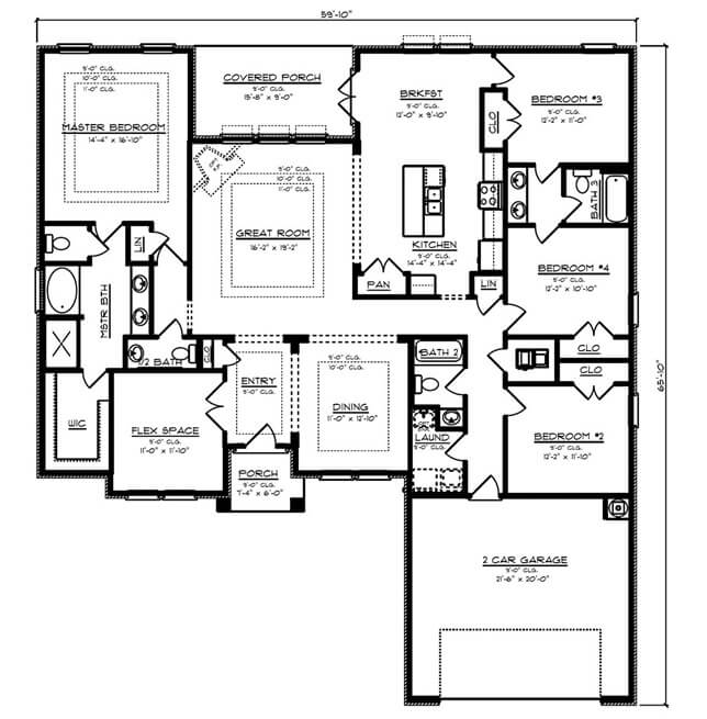 Avery floorplan by dr horton in baldwin county alabama for Baldwin floor plan