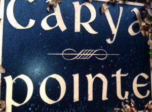 Carya Pointe Estates neighborhood sign