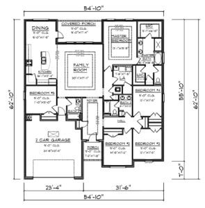Kaden Floorplan by DR Horton in Baldwin County Alabama 2