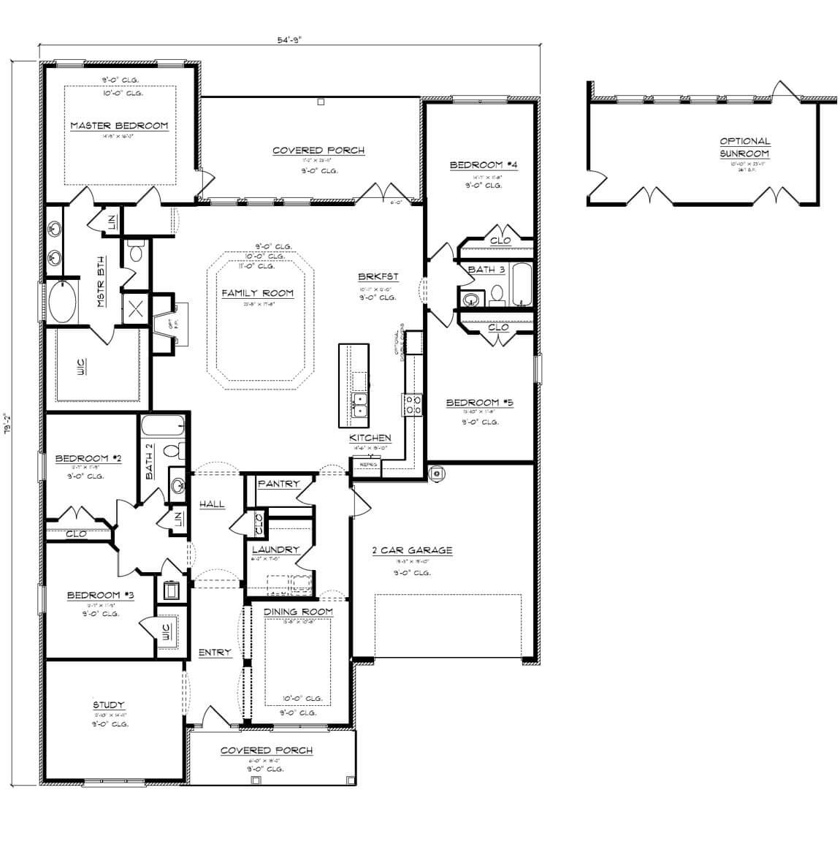McKenzie floorplan by DR Horton in Baldwin County, Alabama