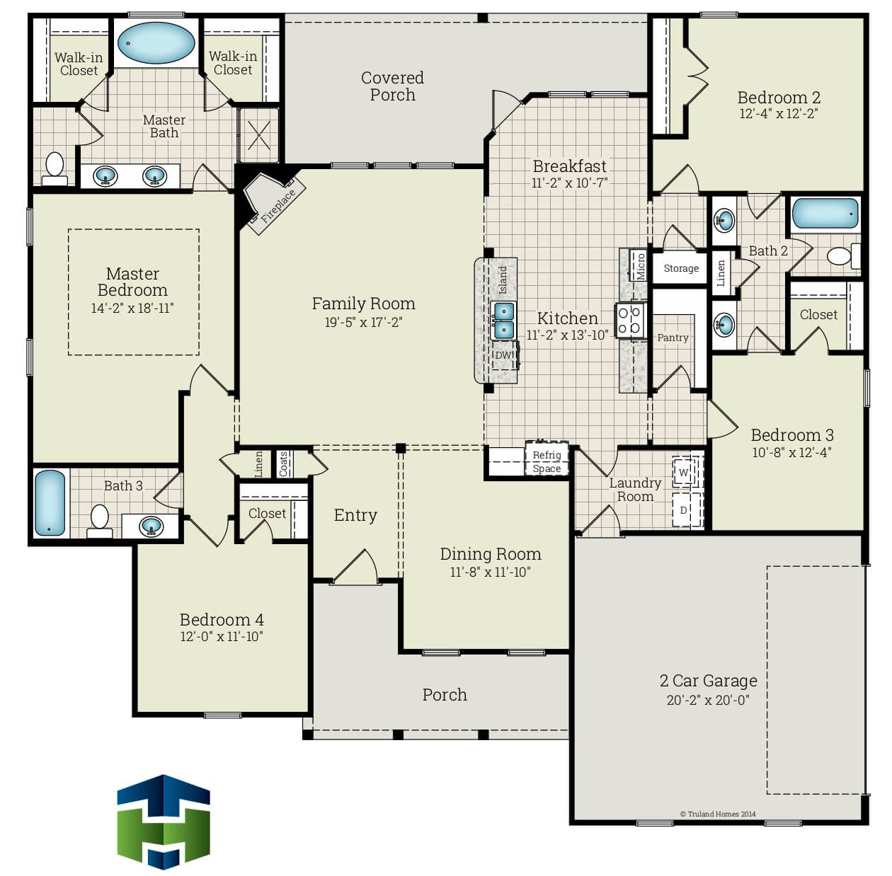 Middleton Floorplan by Truland Homes