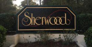 Sherwood neighborhood sign foley, alabama