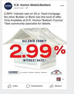 DR Horton 2.99% Financing Baldwin County