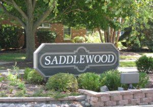 saddlewood in fairhope alabama neighborhood sign
