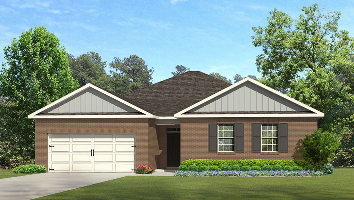 Priced from $249,900 2,250 square feet 4 bedrooms 2 baths single story 2 car garage
