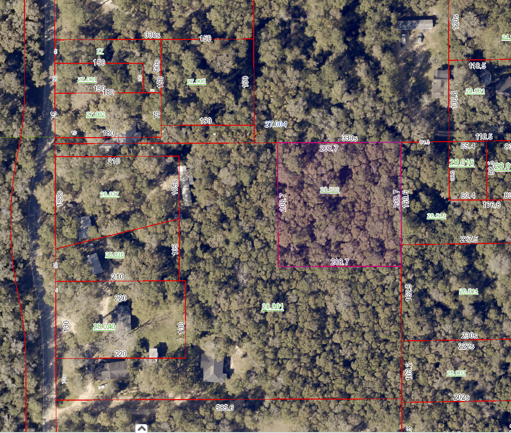 Heard Road One Acre Satelite view movetobaldwincounty.com Urban Property