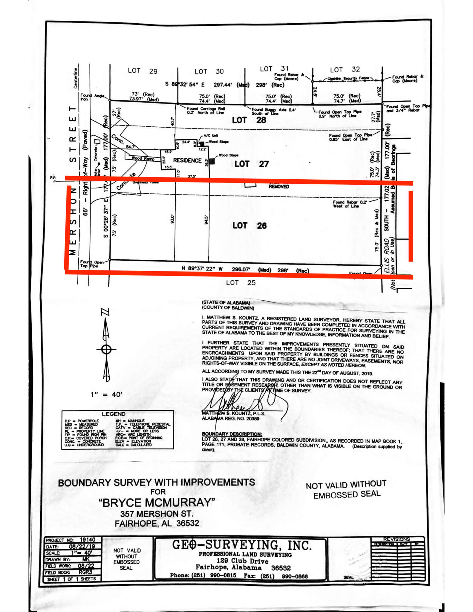 Building lot on Mershon in the heart of Fairhope!   Urban