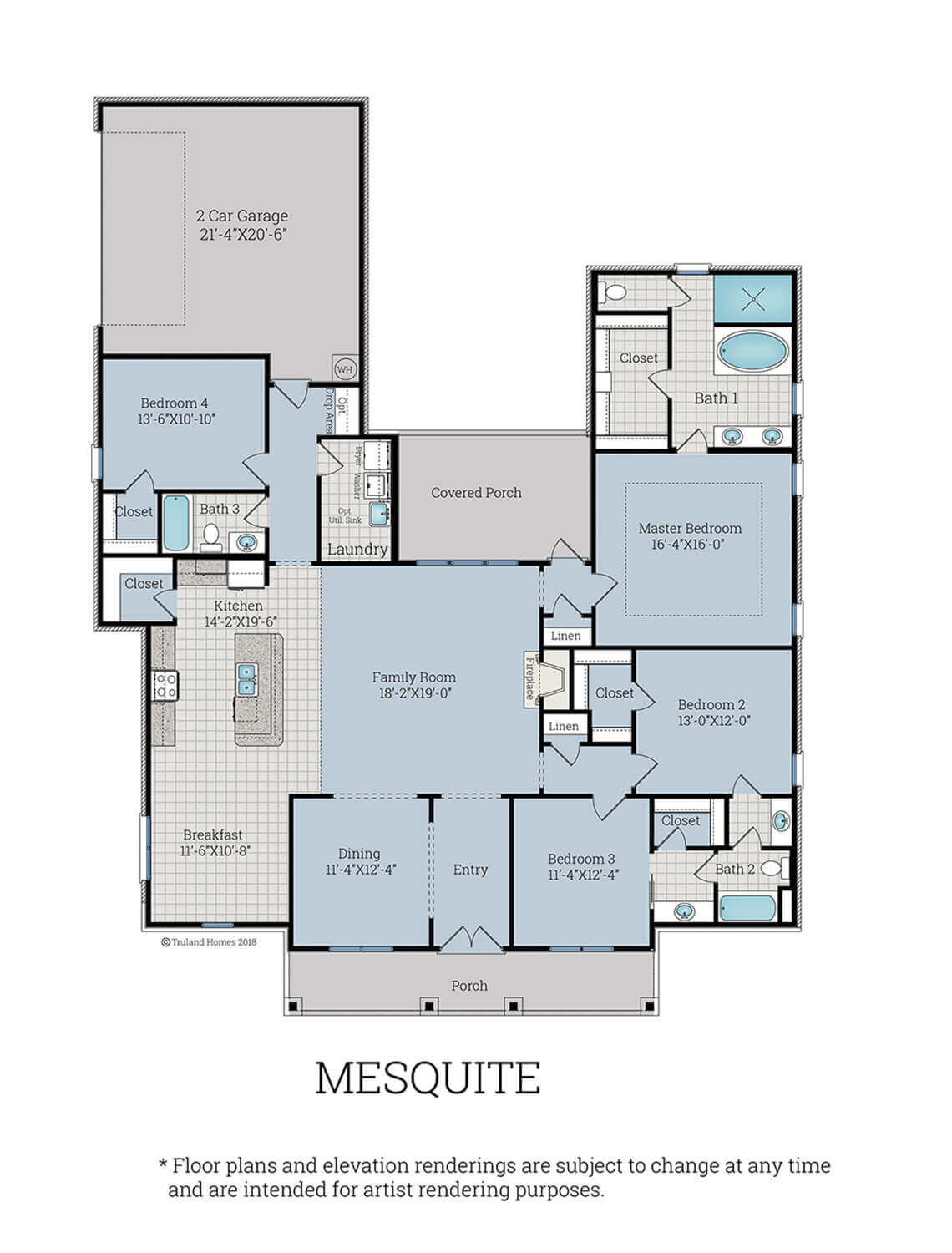 Mesquite Plan Homes By Truland Homes For Sale