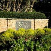 Entrance to Rock Creek subdivision and golf course in Fairhope, AL
